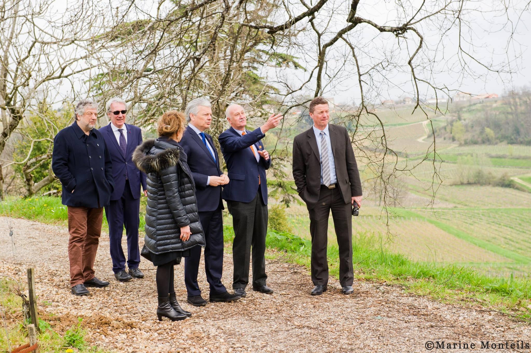 Visite exceptionnelle du Vice-Premier ministre belge Didier Reynders au Château Tour Baladoz et Château La Croizille