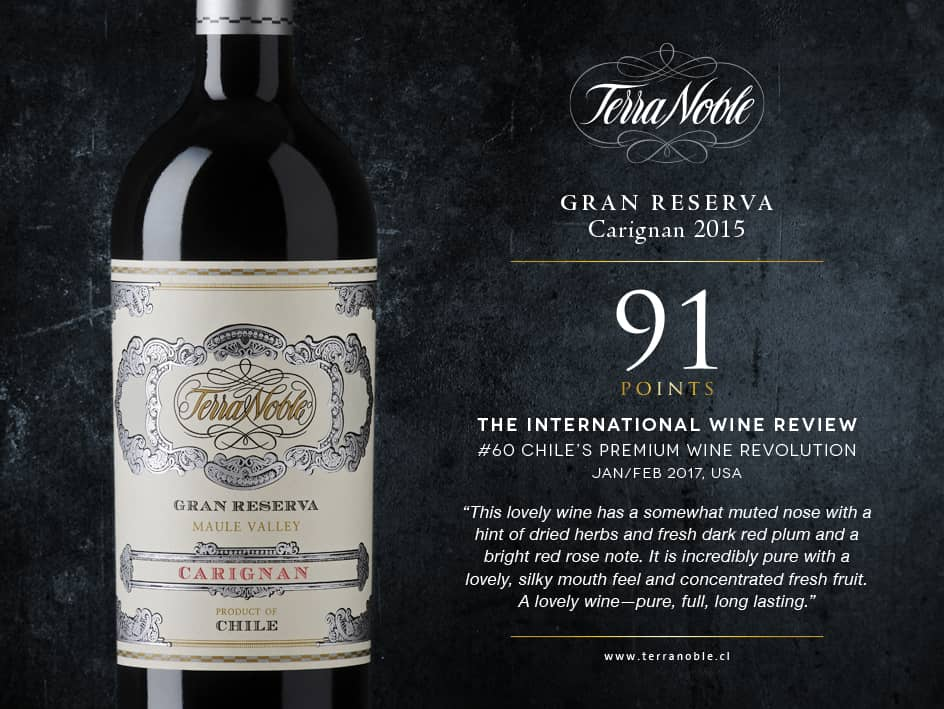International Wine Review: Terra Noble Carignan Gran Reserva: 91/100