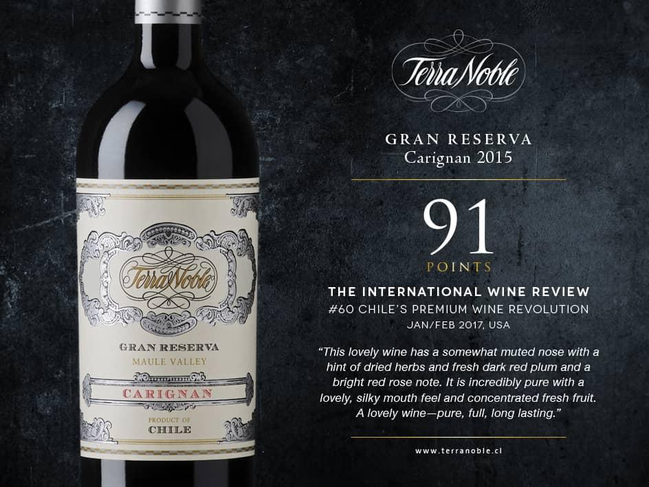 International Wine Review: Terra Noble Carignan Gran Reserva: 91/100